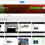 Google+ Profile Page: YouTube Video Tab