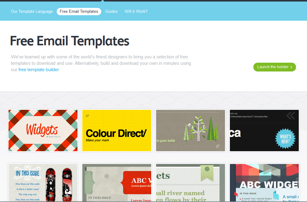 Best Free Email Marketing Templates - Social Media Impact - Social ...