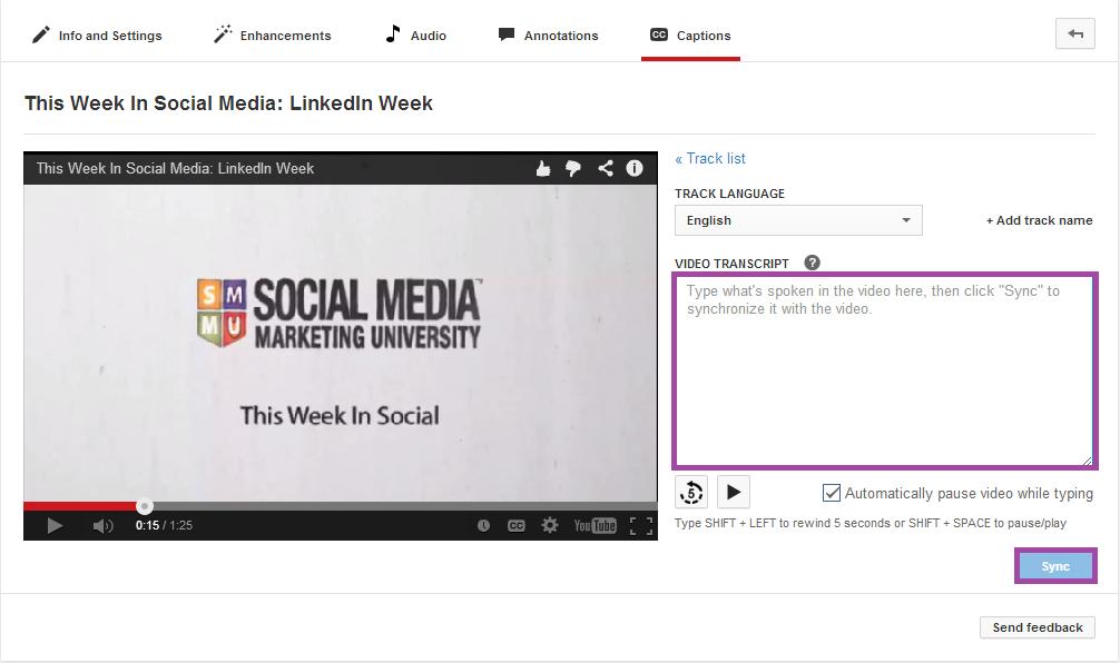 YouTube Marketing Video Transcript