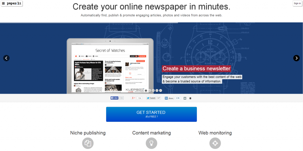 PaperLi Content Curation