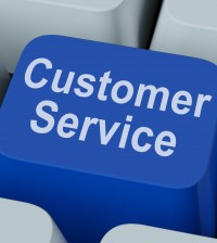 Customer Service Key Shows Online Consumer Support